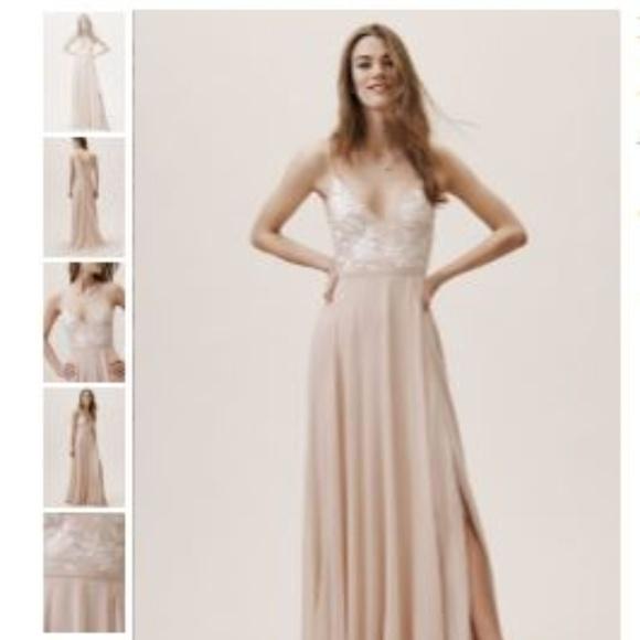 BHLDN Dresses & Skirts - BHLDN Sadia Dress - Size 2 Blush